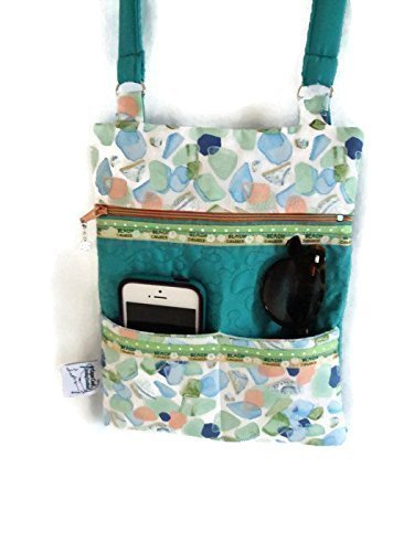 Handmade Quilted Handbags - Crossbody Quilted Shoulder HandBag Zipper with Pockets
