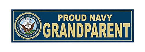 1-Pc Eloquent Unique U.S. Proud Navy Grandparent United States of America Department Sticker Signs Bumper Home Outdoor Wall Hoverboard Window Graphics Racing Cars Vinyl Car Stickers Decor Size - Obx Dealers
