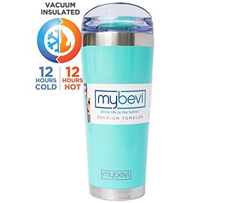 MyBevi Stainless Steel Premium Grade Insulated Travel Tumbler 26 oz - (Turquoise) by MyBevi