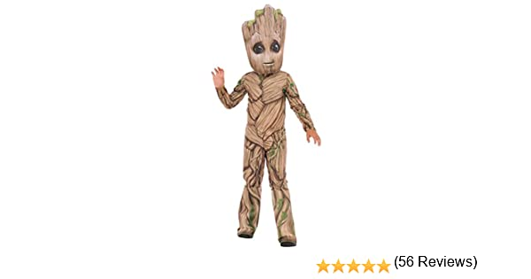 X-Small Multicolor Rubies Costume Company 510346/_XS Guardians of The Galaxy Vol 2 Toddler Deluxe Groot Costume