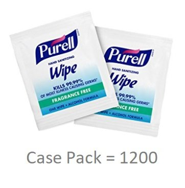 PURELL Hand Sanitizing Alcohol Wipes - Portable Individually Wrapped Wipes (4 Pack of 300) - 9020-06-EC