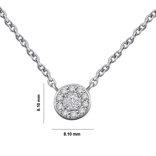 Libertini Colliar argent 925 plaque or Rose serti de Diamant
