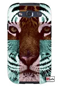 Tiger Hipster Cross Quote Unique Quality Soft Rubber TPU Case for Samsung Galaxy S4 I9500 - White Case