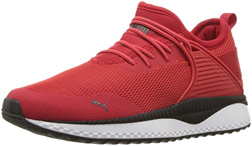 PUMA Unisex-Kids Pacer Next Cage AC Kids Sneaker, high Risk red Black, 3.5 M US Big Kid