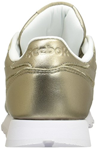 Classic L Gold pearl Metallic Femme Basses Or grey Leather Baskets Reebok white SE0dE