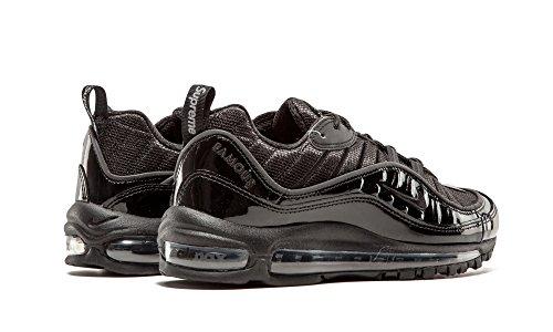 Nike Air Max 98/Supreme - Chaussures de Running, Homme, Couleur Noir (Black/Black-Black), Taille 45