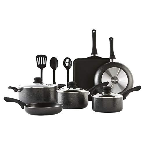 IMUSA USA IMU-25068SET Complete Cookware Set, 12 Piece, Charcoal