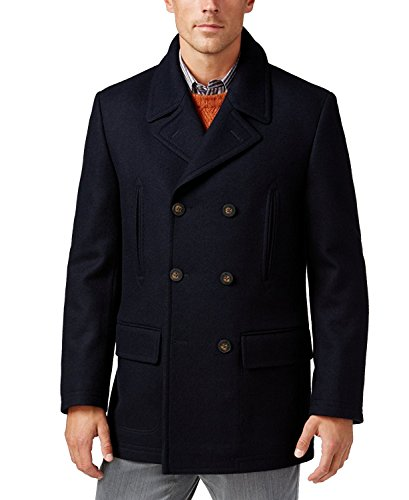 Lauren Ralph Lauren Mens Wool Blend Double-Breasted Pea Coat Navy 44R by Lauren by Ralph Lauren