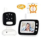 Video Baby Monitor Audio with Camera,Infant Monitor with Infrared Night Vision, 3.5 Inch Color Screen, Two Way Talk Back,Room Temperature, Lullabies, Long Range and High Capacity Battery For Sale