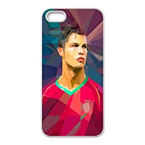 Polygon Cristiano Ronaldo Sport iPhone 4 4s Cell Phone Case White 218y-916946