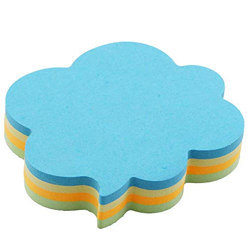 (Cute Modeling Post It Notes-4 Colors Self-Stick Notes-Writable Tape Flags-140 Sheets Memo Label Paper Clouds)