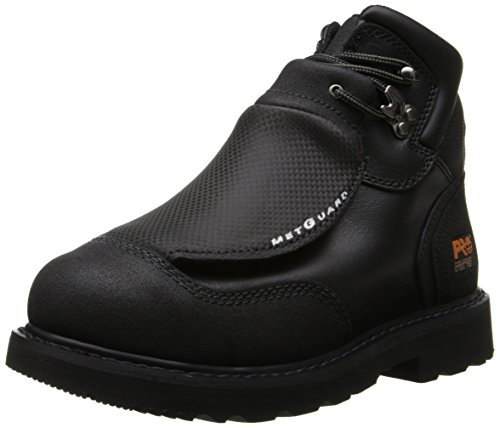 Timberland PRO Men's 40000 Met Guard 6' Steel Toe Boot,Black/Black,13 W