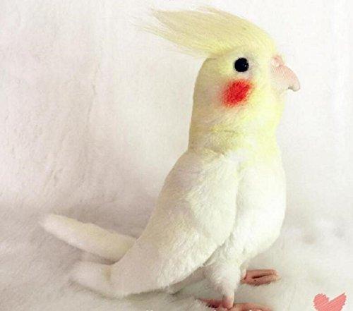 (JiangYY Cockatiel Parrot Bird Plush Stuffed Animal Toy Yellow Bird Cute)