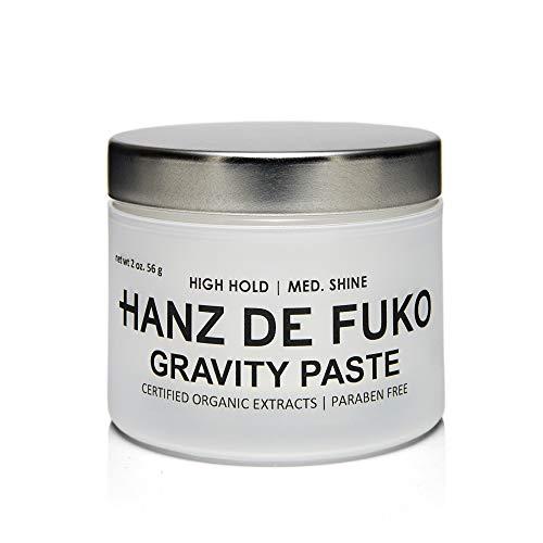 Hanz de Fuko Premium Men's Hair Styling Gravity Paste: High Performance Hair Styling Paste with a Medium Shine Finish ()