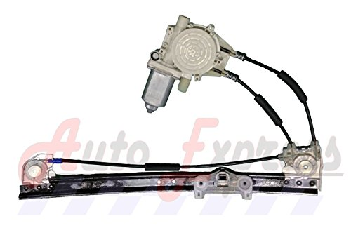 Window Regulator; w/Motor; Left Rear; Replaces OEM - Motor Pn