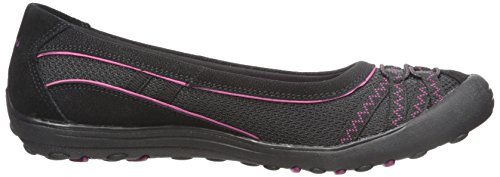 Skechers Womens Earth Fest Upcycle Flat Black
