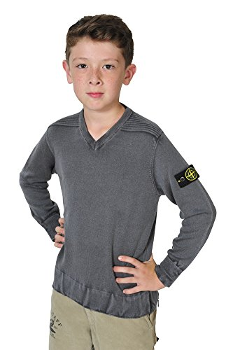 Stone Island Pullover Jungen Grau 10