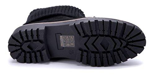 cm Stiefel 3 Stiefeletten Schuhtempel24 Schuhe Blockabsatz Damen Schwarz Boots Klassische 8wqqnxRBOv