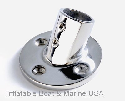 """Boat Hand Rail Fitting - 60 Degree 7/8"""" Round Base-Marine 316 Stainless Steel"""