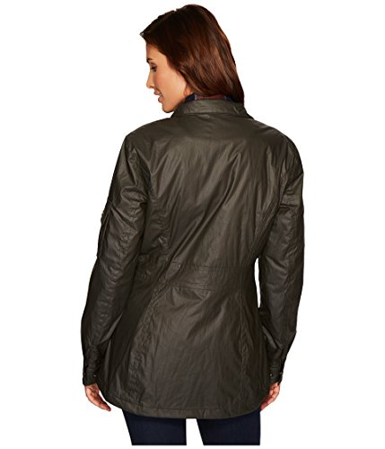 Pendleton Women's Waxed Cotton Hooded Zip Front Jacket, Olive, M by Pendleton (Image #5)