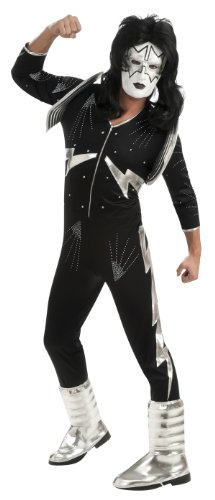 Kiss Deluxe The Spaceman Costume, Black, X-Large