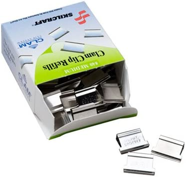 Office Stationery Clam Clip Dispenser Refill 40 Pieces