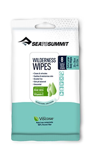 Sea to Summit Trek and Travel Wilderness Bath Wipes, Large