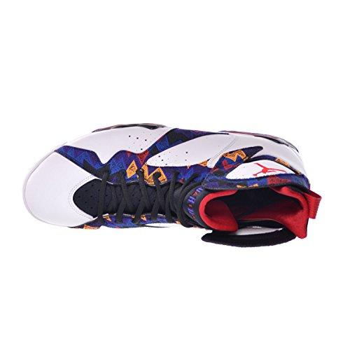 Nike Air Jordan 7 Retro, Zapatillas de Deporte para Hombre White/University Red-Black-Bright Concord