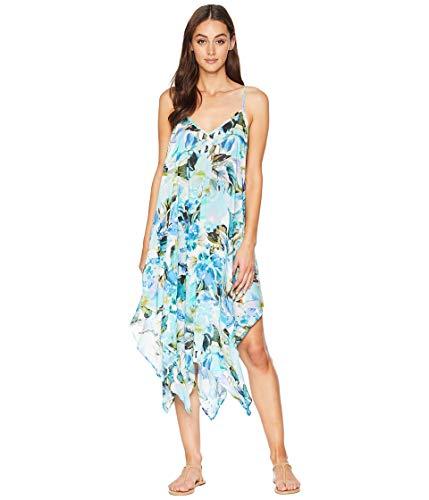 La Blanca Women's V-Neck Maxi Scarf Dress, Painted Love, Extra Large - La Blanca Dress