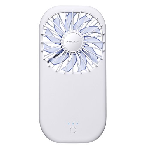 Aibocn Mini Handheld Fan with 3500mAh Rechargeable Power Bank Funtion Cooling Fan for Summer Travel, Camping and Outdoor by Aibocn