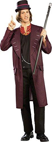 Rubie's UHC Men's Willy Wonka Jacket w/Vest & Top Hat Funny Theme Fancy Costume, XL (44-46) -