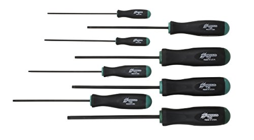 Bondhus 33834 Set of 8 Tamper Resistant Stardriver Tools, sizes T9-T40