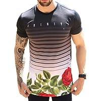 Camiseta Oversized Camisa Swag Masculina Longline Floral