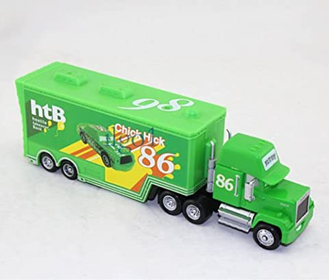 g d isney pixar NO.86 Chick Hicks Hauler Mack Truck Diecast Kid Toy - Cars Mega Mack Playset