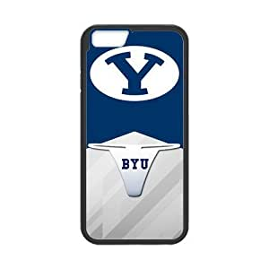 Generic Custom Design Brigham Young University NCAA BYU Cougars Teams Logo Plastic and PC (Laser Technology) Case For Iphone 6 4.7Inch Cover