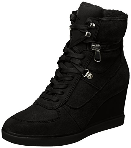 B Suede Boots Wedge D Eleni GEOX Womens Black Sneakers E4ZHcq
