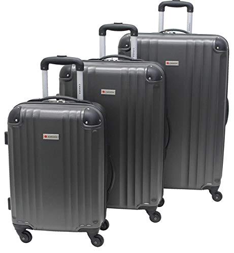 Canada 3-Piece Lightweight Hard Side Wheeled Suitcase Set