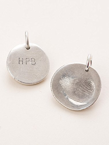 Amazon custom silver fingerprint pendant kit handmade custom silver fingerprint pendant kit mozeypictures Image collections