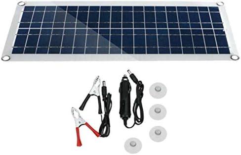 SODIAL 30W 12V Dual USB Kit de Panel Solar Flexible Clip de ...