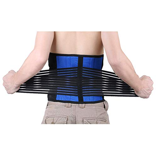 EagleUS Deluxe Neoprene Double Pull Lumbar Lower Back Support Brace Exercise Belt (XXL(Waist 42-46
