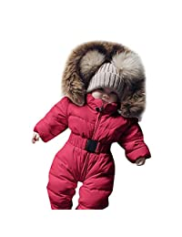Clearance Infant Newborn Baby Hoodie Down Jacket Jumpsuit Snuggly Snow Suit