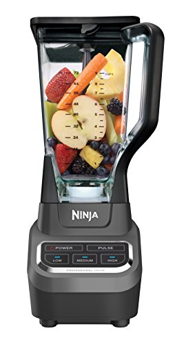 Ninja Professional 72oz Countertop Blender with 1000-Watt Base and Total Crushing Technology for Smoothies, Ice and Frozen Fruit (BL610), Black by SharkNinja