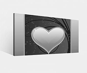 Amazon De Leinwandbild Herz Ranke Blumenranke Rot Gold Liebe
