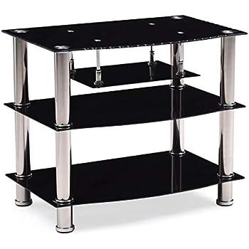Amazon.com: Flash Furniture North Beach Black Glass TV