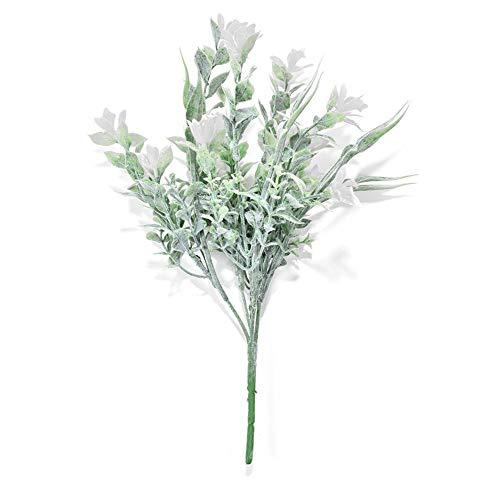 (puremood 5PCS Simple and Natural Flocking Orchid Bridal Artificial Flowers Decoration Decor Decorative Flowers Bouquet for Wedding)