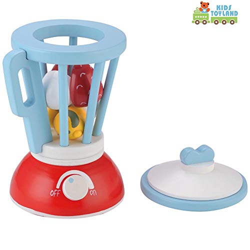 KIDS TOYLAND Wooden Pretend Food Toy Kid's New Smoothie Playset Enjoy Time Play Kitchen Set with Accessories