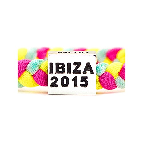 Ibiza 2015 Woven Wristband - Fuchsia, One Size