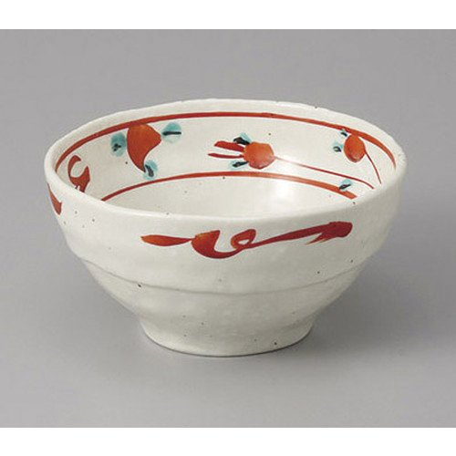 - Small bow red drawing ball flower cliff 3.3 bowls [11 x 5.5 cm] Tatei Ryokan Japanese style dish for drinking service business