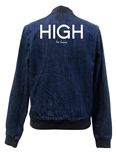 Happy Bomber Certified But Jeans High Giacca Freak Girls BqnSHCpxw