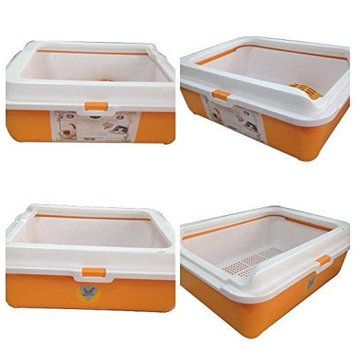 Amazoncom Sifting Litter Box Medium Cat Tray Framed Sifting